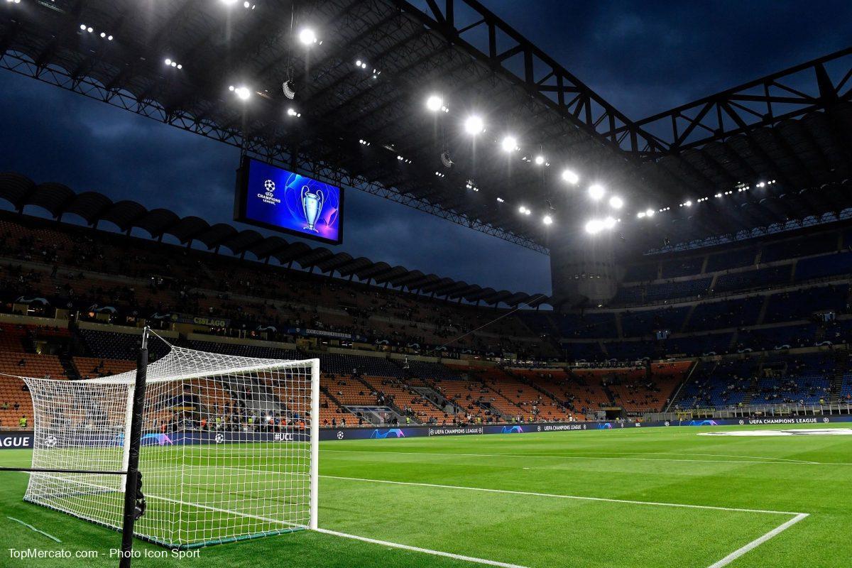 Ligue des Champions, stade Giuseppe Meazza, television illustration
