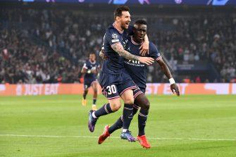 Lionel Messi et Idrissa Gueye, PSG Manchester City
