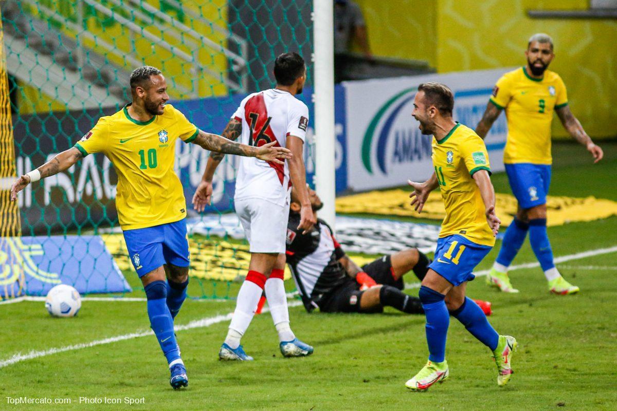 Neymar, Brésil-Pérou