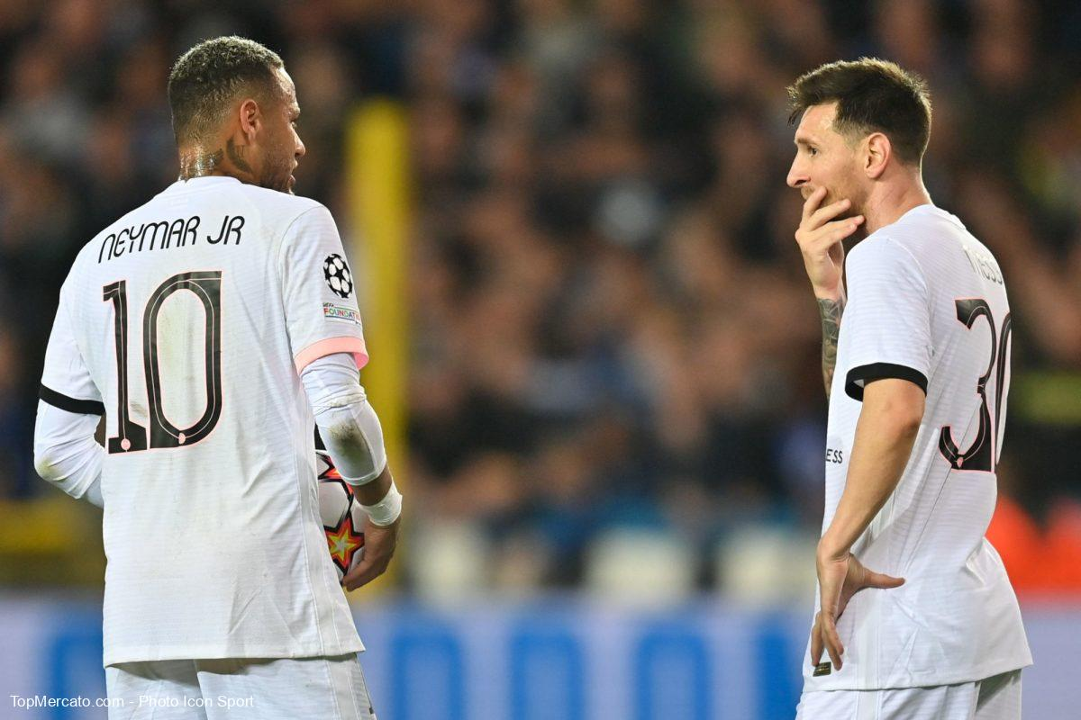 Neymar et Lionel Messi, Bruges-PSG