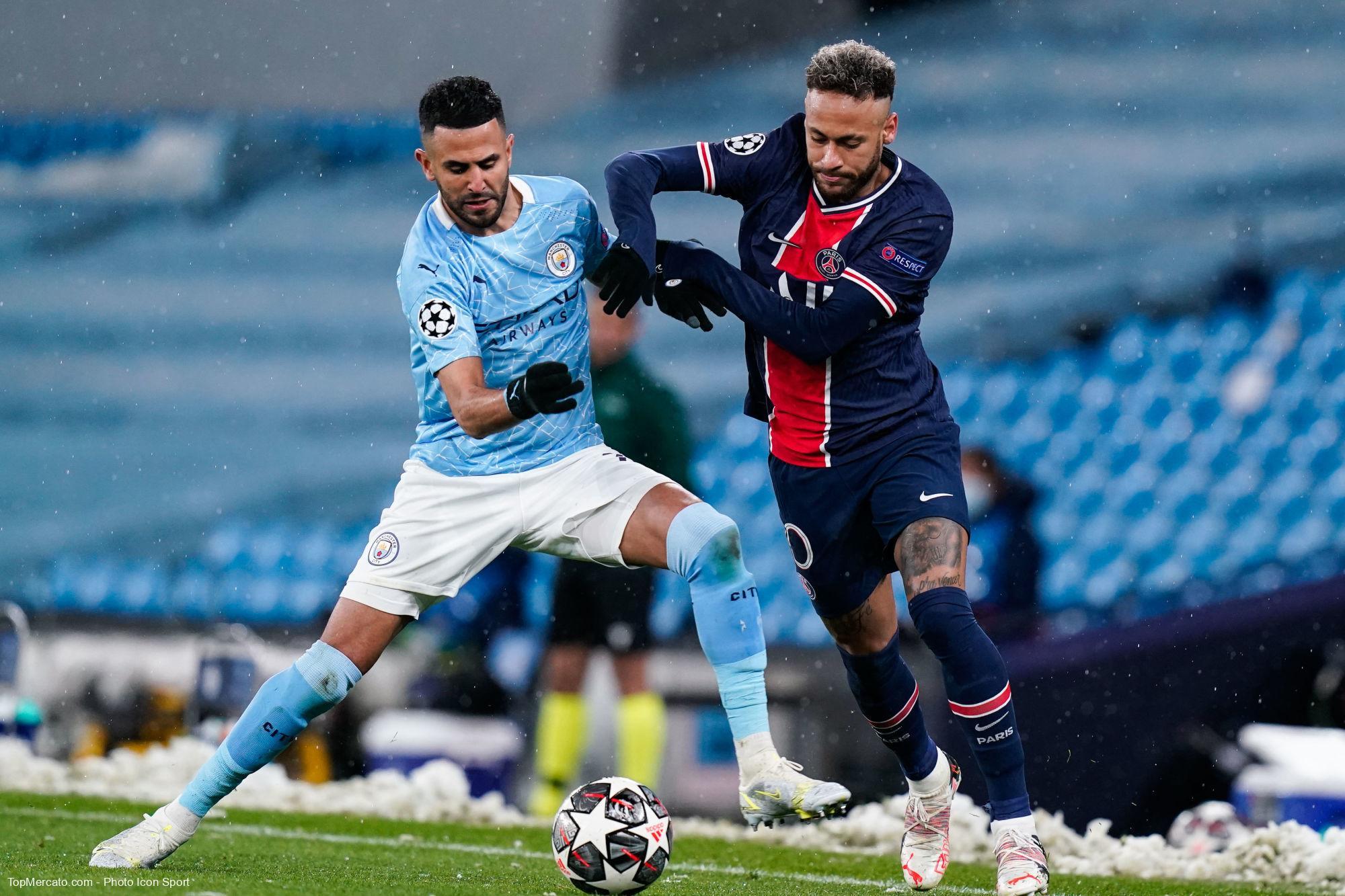 Neymar et Riyad Mahrez, Manchester City - PSG