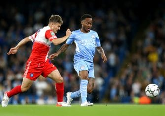 Raheem Sterling, Manchester City-Wycombe