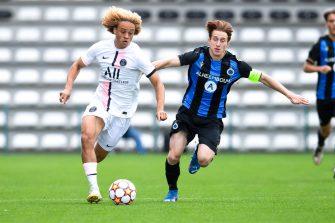 Xavi Simons, Bruges-PSG, Youth League
