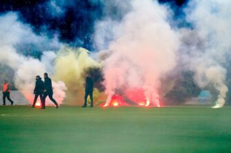 ASSE-Angers, Saint-Etienne, Geoffroy-Guichard, incidents