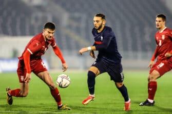 Amine Gouiri, match Serbie - France Espoirs