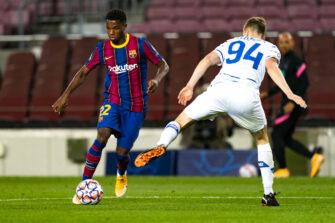 Ansu Fati, match FC Barcelone Barça - Dynamo Kiev