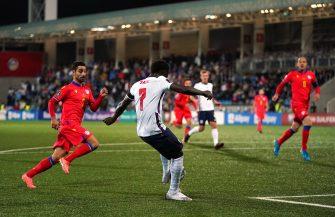 Bukayo Saka, match Andorre-Angleterre