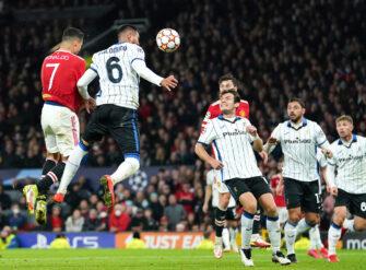 Cristiano Ronaldo, match Manchester United - Atalanta Bergame