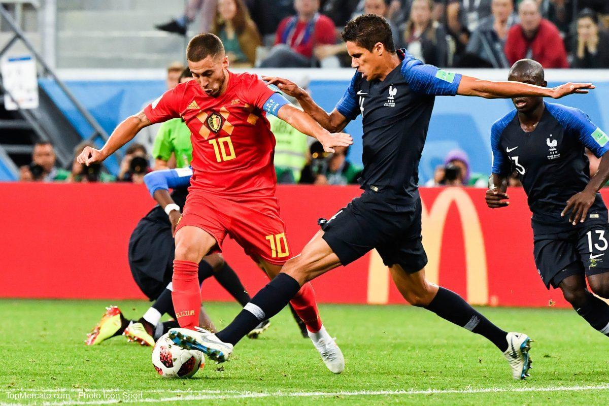Eden Hazard et Raphael Varane, match France - Belgique 2018