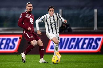 Federico Chiesa et Lyanco, match Juventus Turin - Torino