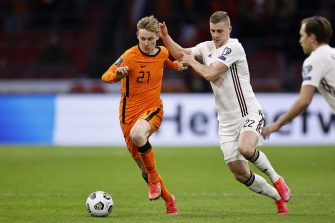 Frenkie de Jong, match Pays-Bas - Lettonie