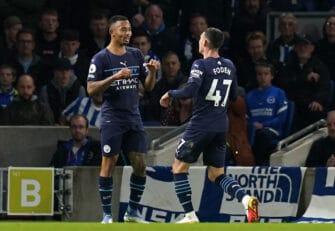 Gabriel Jesus et Phil Foden, Man City Manchester City