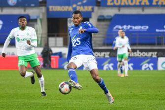 Habib Diallo, match Strasbourg - ASSE Saint-Etienne