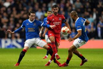 Houssem Aouar, match Glasgow Rangers - Lyon OL