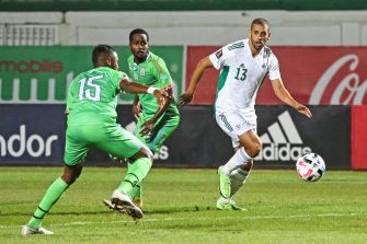 Islam Slimani, match Algérie - Djibouti