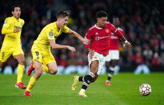 Jadon Sancho, match Manchester United - Villarreal
