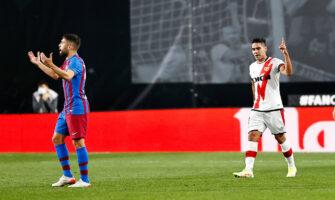 Jordi Alba et Radamel Falcao, match Rayo Vallecano-FC Barcelone Barça