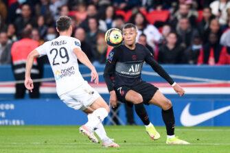 Kylian Mbappé et Vincent Manceau, match PSG Paris Saint-Germain-SCO Angers
