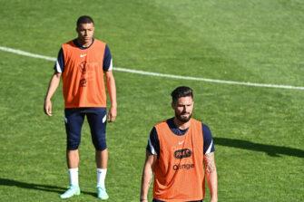 Kylian Mbappé et Olivier Giroud, Equipe de France
