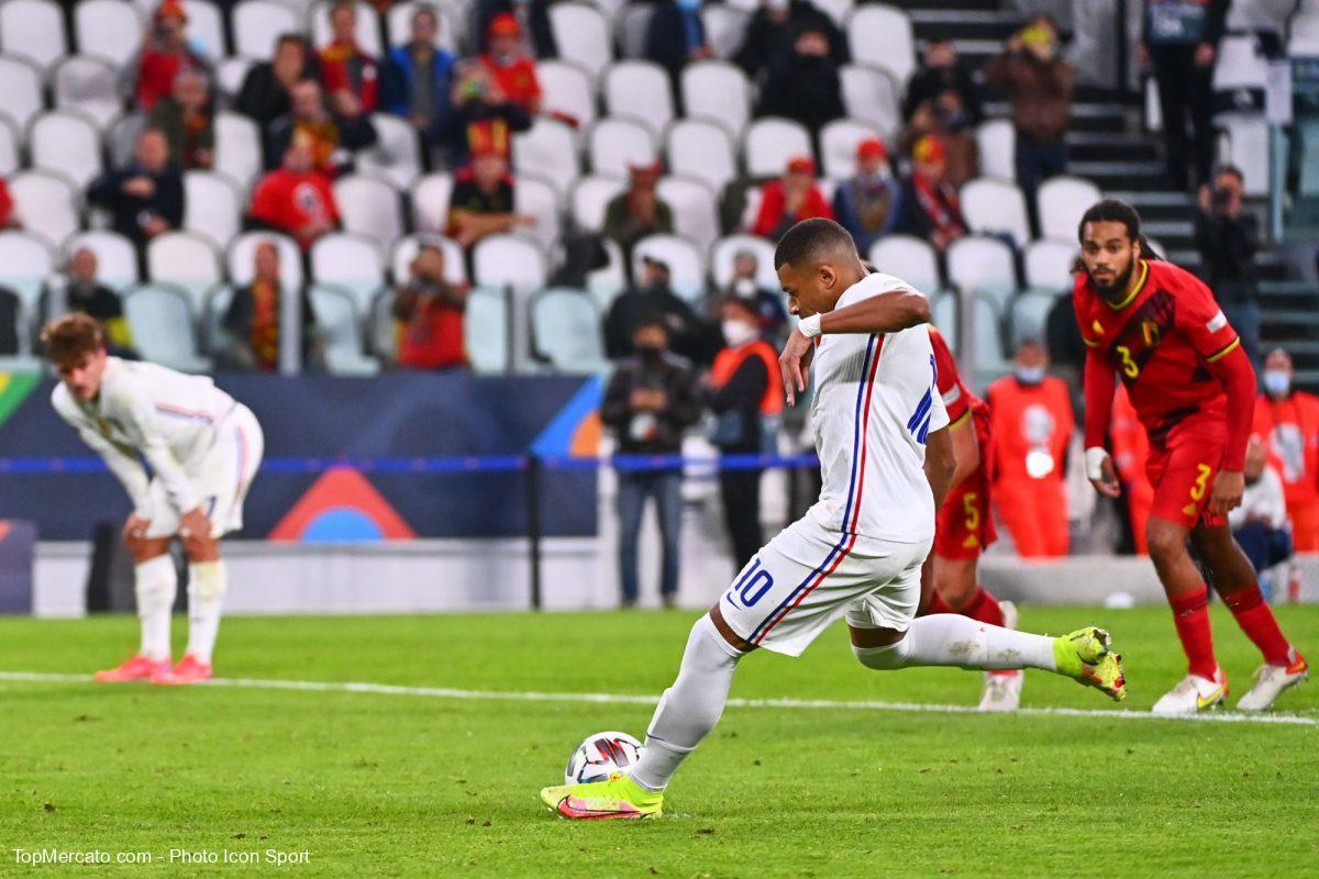 Kylian Mbappé, match France-Belgique