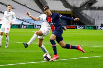 Kylian Mbappé, match OM Marseille - PSG