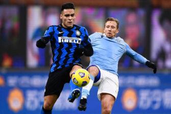 Lautaro Martinez, match Lazio Rome - Inter Milan