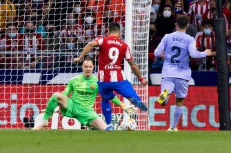 Luis Suarez et Sergino Dest, match Atletico Madrid-Barça FC Barcelone