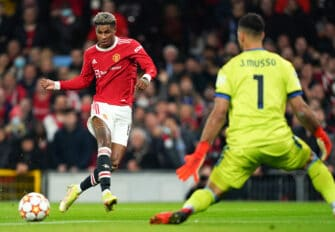 Marcus Rashford, match Manchester United - Atalanta Bergame
