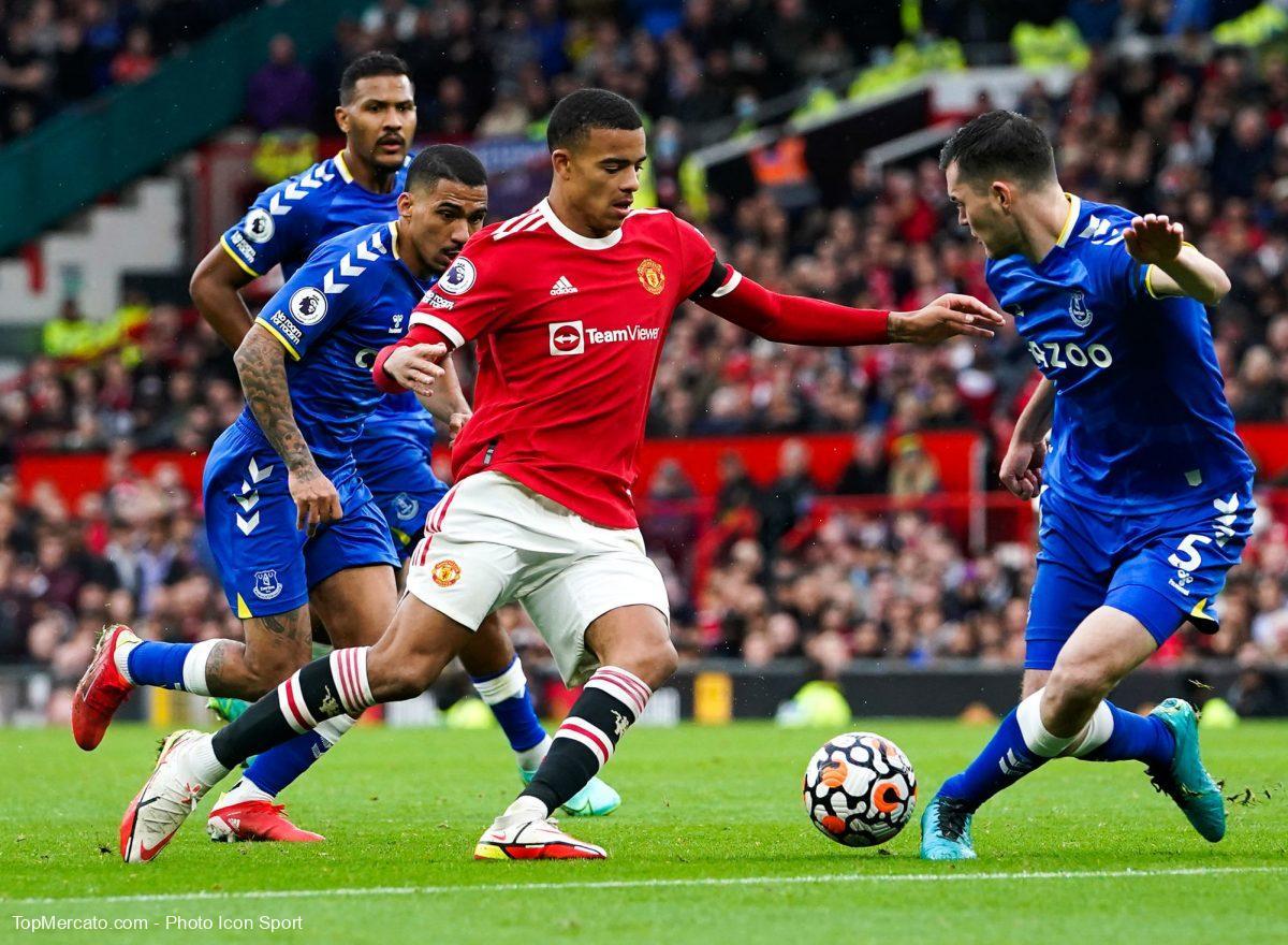 Mason Greenwood, match Man Utd Manchester United-Everton