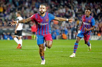 Memphis Depay et Ansu Fati, match FC Barcelone Barça-Valence