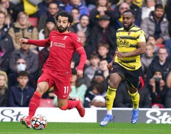 Mohamed Salah et Danny Rose, match Watford-Liverpool LFC