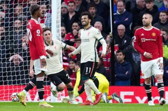 Mohamed Salah et Luke Shaw, match Man Utd Manchester United-Liverpool