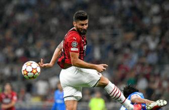 Olivier Giroud, Milan AC, Ligue des Champions