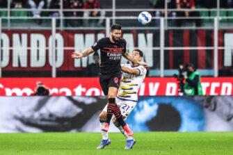 Olivier Giroud, match Milan AC-Hellas Vérone