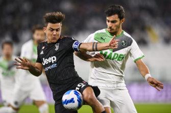 Paulo Dybala et Kaan Ayhan, match Juventus Turin-Sassuolo