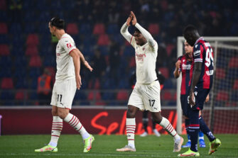 Rafael Leao et Zlatan Ibrahimovic, match Bologne-Milan AC