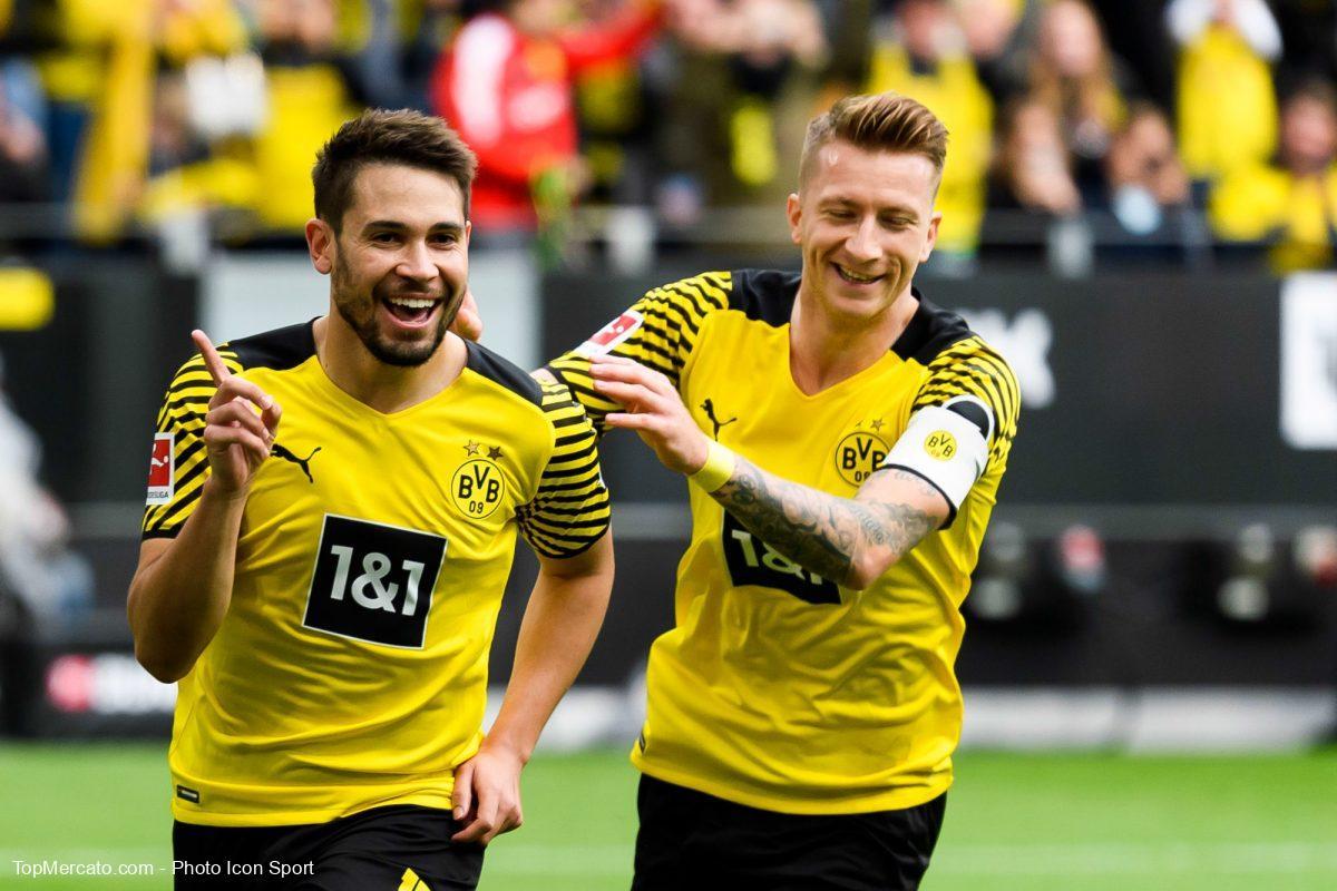Raphaël Guerreiro et Marco Reus, BVB, Borussia Dortmund