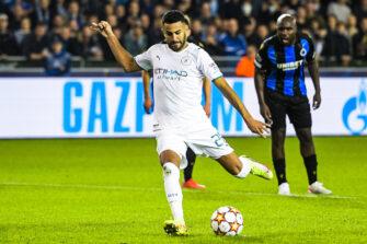 Riyad Mahrez, match Bruges-Man City Manchester City