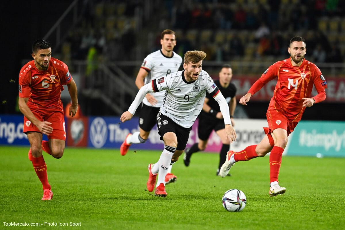 Timo Werner, match Macédoine du Nord-Allemagne