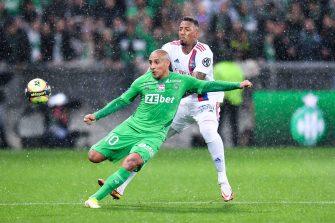 Wahbi Khazri et Jérôme Boateng, match ASSE Saint-Etienne-OL Olympique Lyonnais