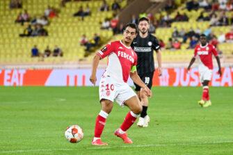 Wissam Ben Yedder, match Monaco - Sturm Graz